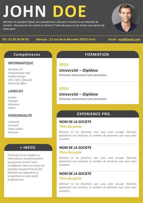 Exemple De Cv En Ligne Gratuit by Cv En Ligne Finance Joyeux Mod 232 Le Cv