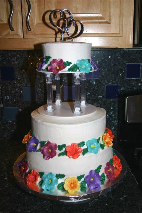luau wedding cakes hawaiian luau themed wedding cake cakecentral