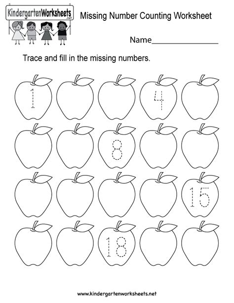 printable missing numbers worksheets missing number counting worksheet free kindergarten math