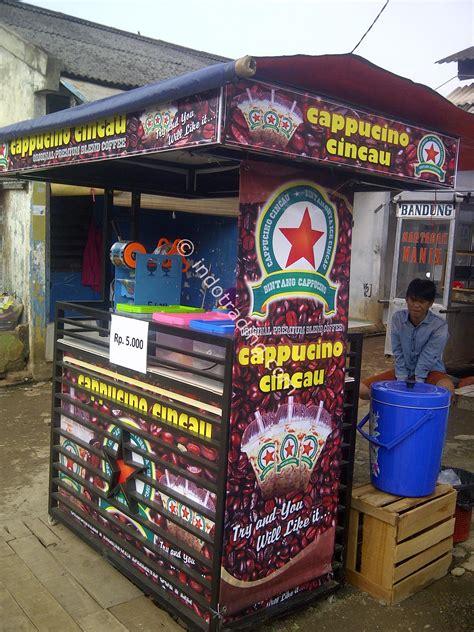 jual gerobak hitam khas cappuccino cincau harga murah kota