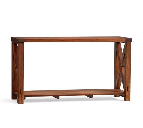 pottery barn sofa tables benchwright outdoor console table pottery barn