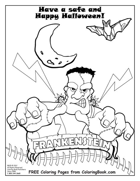 free coloring pages of my halloween book