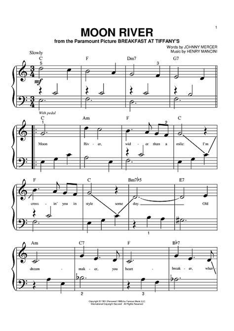 moon river sheet music music for piano and more onlinesheetmusic com