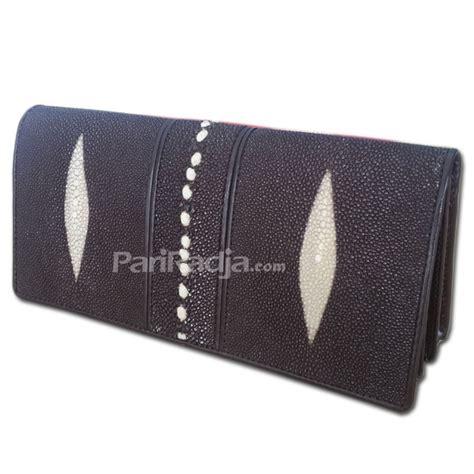 membuat warna coklat tua dompet wanita double kulit pari list duri coklat tua