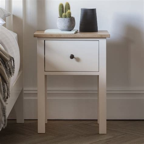 Banbury White Bedside Table Homesdirect365 Banbury Bedroom Furniture