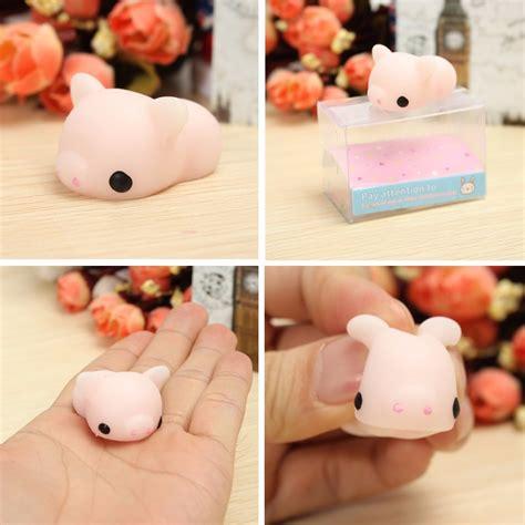 Pig Squeeze mochi pink piggy squishy squeeze pig healing