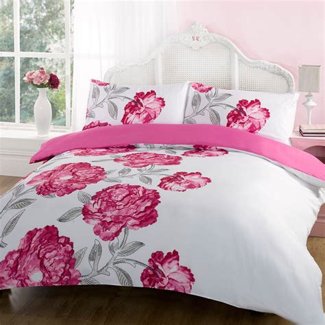 duvet quilt cover bedding set pink single king