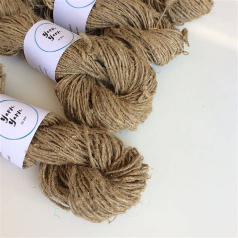 hemp for knitting handspun hemp yarn organic yarn vegan friendly yarn