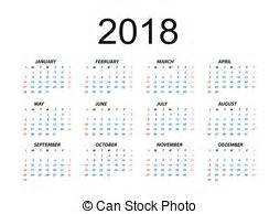 Calendar 2018 Cdr 2018 Calendar Clipart Vector And Illustration 866 2018