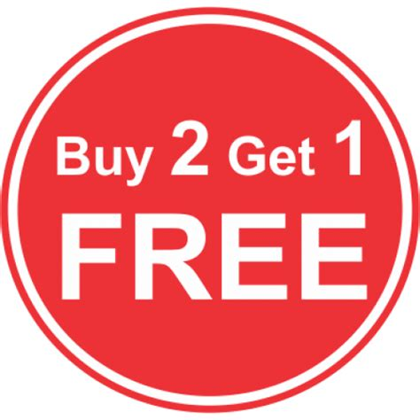 one free buy 2 get 1 free worth filthy