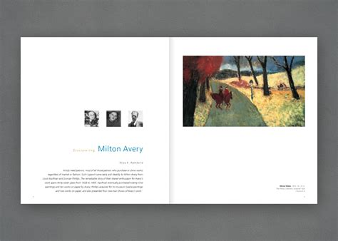 art book layout design the phillips collection milton avery exhibition catalog