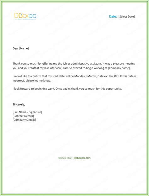 letter reply offer sle docoments ojazlink