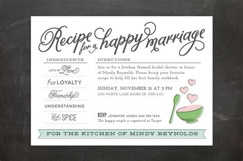 Bridal Shower Recipes by Thrifty Thursday Up To 15 Wedding Invitations