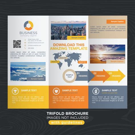brochure design with trifold colorful template vibrant colorful travel business trifold brochure template