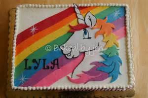 Rainbow unicorn birthday cake cake by jen cakesdecor