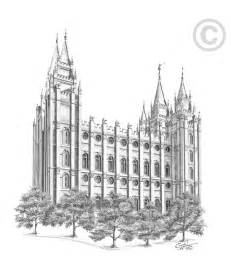 Salt Lake Temple Simple Coloring Pages Salt Lake Temple Coloring Page