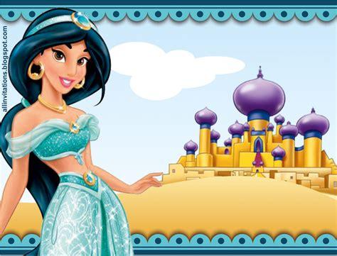 imagenes de cumpleaños jazmin invitaci 243 n princesa jazm 237 n all invitations