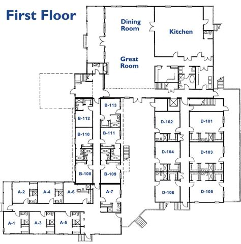 best retirement home floor plans nursing home floor plans