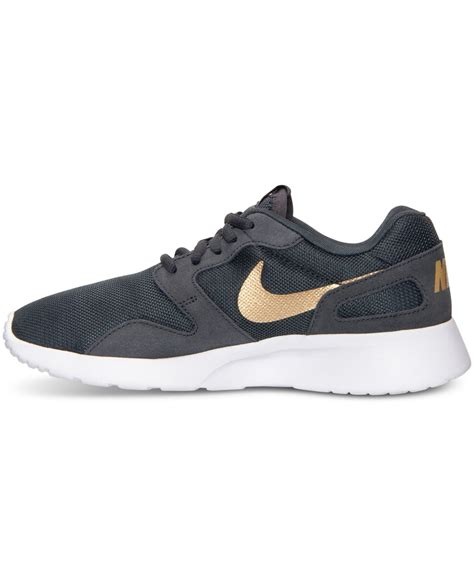 grey and gold lyst nike women s kaishi casual sneakers from finish