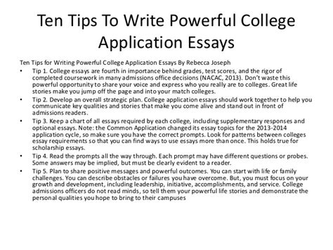 College Application Essay About Communicating Their Stories Strategies To Help Students Write Powerf