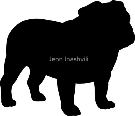 Girly Wall Stickers quot bulldog silhouette s quot stickers by jenn inashvili redbubble