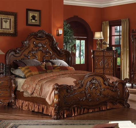 cherry wood bedroom sets dresden formal traditional antique 1pc queen bed furniture