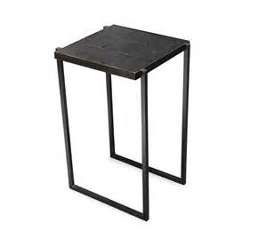Hammered Metal Table L Hammered Steel Side Table Small Room
