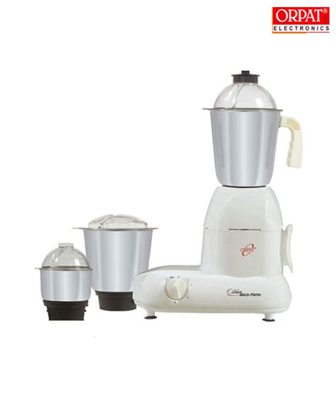 Orpat Mixer Grinder Kitchen Gold White