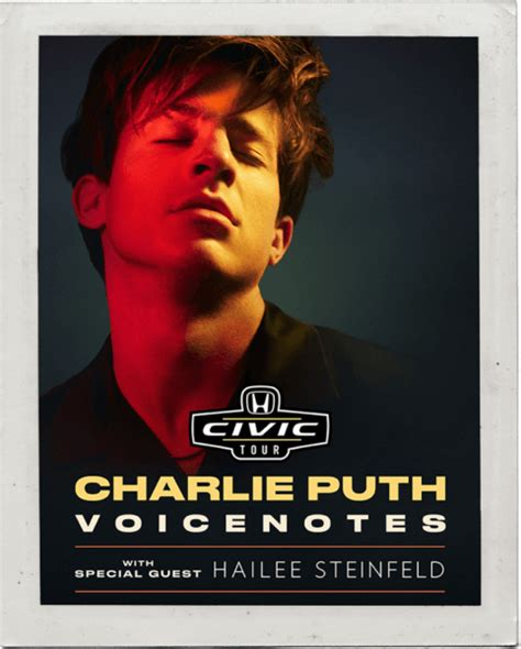charlie puth date charlie puth headlines the 2018 honda civic tour dates