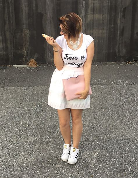 ilaria my way to be myself kaos t shirt asos purse h m necklace adidas superstar