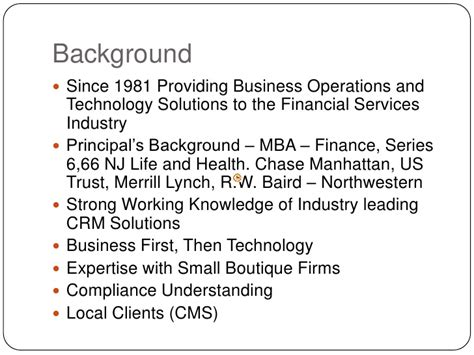 Mba Financial Services Llc by Presentation Ifs Sle Business Presentation