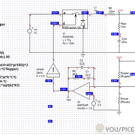 switched mode power supply simulation with spice the faraday press edition books buck voltage mode transient response youspice