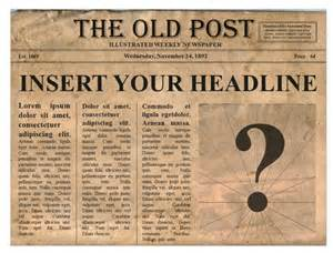 Make Your Own News Paper - create your own newspaper front page template