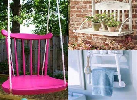 ideas para decorar mi casa con reciclaje 15 ideas para reciclar y decorar el hogar con sillas viejas
