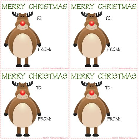 printable reindeer chow gift tag 8 best images of printable reindeer gift tags free