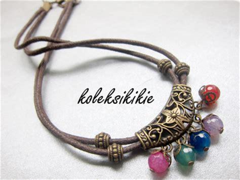 membuat gelang etnik tutorial membuat kalung etnik koleksikikie