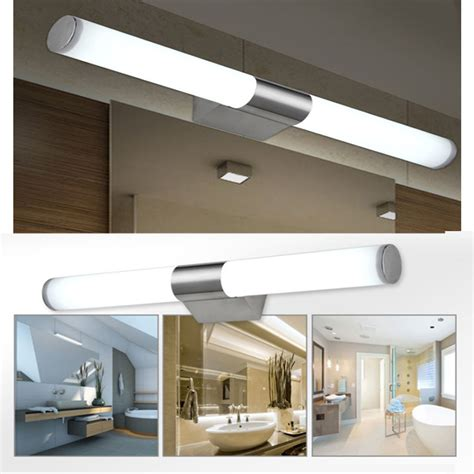 led bathroom lighting fixtures modern bathroom mirror lights led brief tube wall light