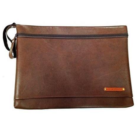 Ransel Clutch Brown clutch pria tas tangan unisex small dual zip brown clutch