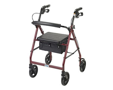 drive walker with seat drive rollator walker with fold up removable