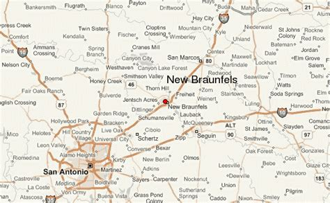 map of new braunfels texas new braunfels location guide