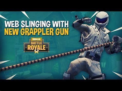 web slinging   grappler gun fortnite battle