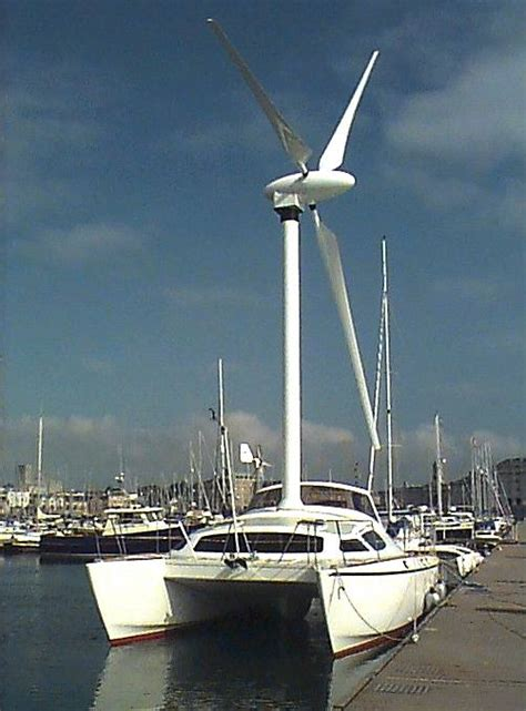 boat wind turbine wind powered ships marine renewable energy research rotary