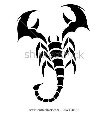 tribal tattoos vetor tribal vector scorpion design sketch em vetor stock