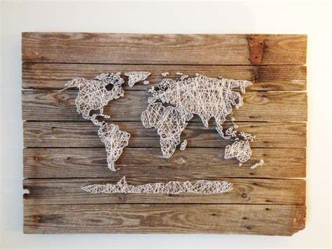 World Wall Decor by String World Map Barn Door Wood Wall Decor By
