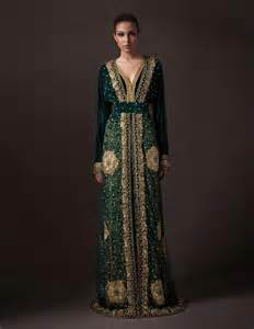 collection of moroccan heavy colorful kaftan for