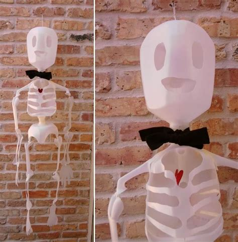 How To Make A 3d Human Out Of Paper - how to milk jug skeleton make