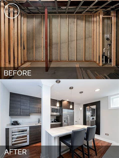 basement remodeling pictures before and after 25 best ideas about basement kitchen on built
