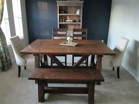 ana white 4x4 truss dining room table and bench diy ana white 4x4 truss beam table diy projects
