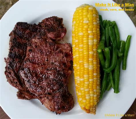 charcoal grilled delmonico steak dinner menu make it