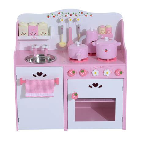 cucina per bambini in legno homcom cucina giocattolo per bambini in legno con